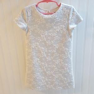 Like 🆕️ Cute Old Navy Silver & Cream Dress 5T